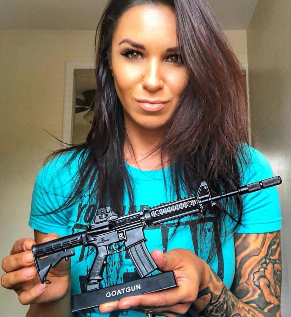 Goatguns AR 15 replica displayed by @the_alpha_chick