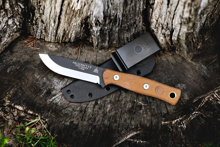 The BoB Fieldcraft 3.5 is available with several finishes, two different steels, a slew of handle options, and a leather or Kydex sheath as standard.