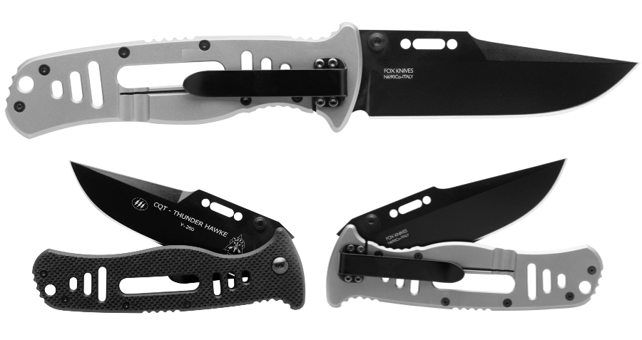 The TOPS Knives CQT Thunder Hawke with Hunter blade. CQT-THK-02