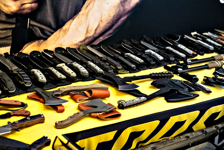 TOPS Knives had many tactical knives on display at SHOT Show 2019.
