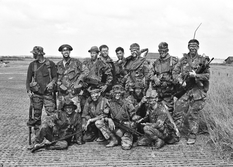 Throughout America's involvement, a variety of camouflage – much of it locally made – was used in Vietnam. These Navy SEALs are wearing tigerstripe camouflage among other patterns. (Photo: U.S. SEAL Museum/Public Domain)