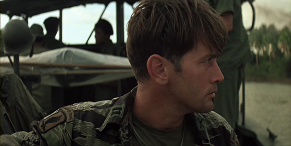 Iconic tiger stripe uniform Martin Sheen in the Vietnam War movie Apocalypse Now.