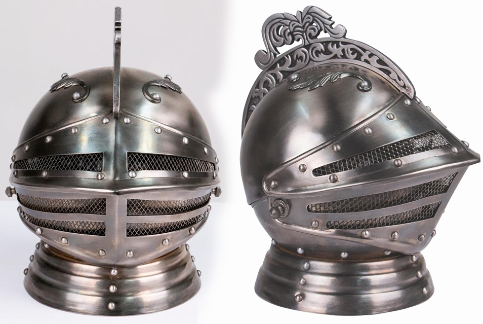 The metal work on the Medieval Knights Helmet Decanter is also very well done.