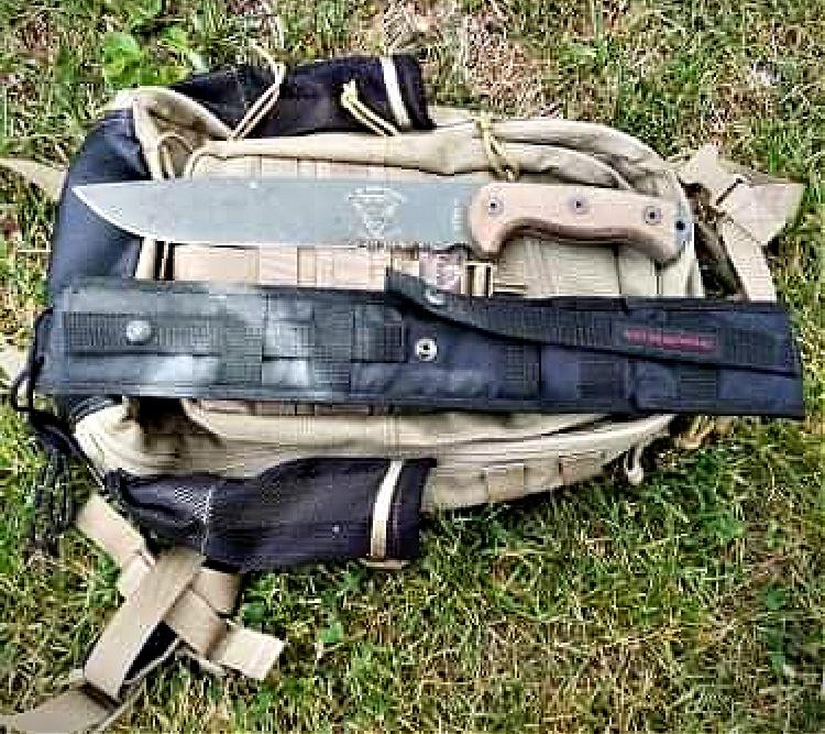 RTAK II field knife sheath attachment points.
