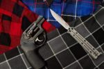flannel shirts with Ruger LCR revolver and Kershaw knife