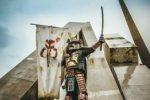 Mandalorian helmet in samurai style by @daar_drashaar2244